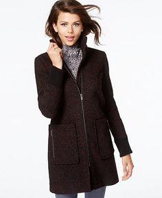 RACHEL Rachel Roy Tweed Walker Coat - Coats - Women - Macy's