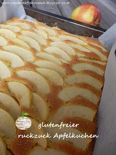 Rezept glutenfreier ruckzuck Apfelkuchen  http://zauberhaftekruemel.blogspot.co.at/2016/04/rezepte-glutenfreier-ruckzuck.html
