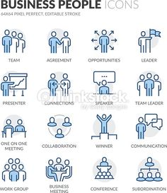 Vector Art : Line Business People Icons