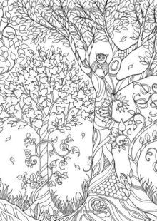 Forest Coloring Book | AdultcoloringbookZ Forest Coloring Pages, Tree Coloring Page, Animal Coloring Pages, Adult Coloring Pages, Coloring Books, Enchanted Forest Book, Enchanted Forest Coloring Book, Magical Forest, Zentangle
