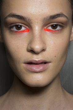 Read: This could be cute idea for a summer beauty editorial. I think that they bright underage details are super cool and would make a very interesting shoot theme. this would be great to do with a model that has unique eyes because it would really make them pop.
