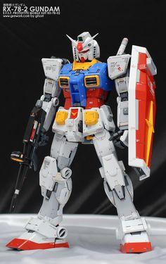 PG Gundam - Customized Build Modeled by ghost Real Robots, Genesis Evangelion, Gundam Mobile Suit, Gundam Custom Build, Gundam Art, Japanese Toys, Gunpla Custom, Mecha Anime, Girls Anime