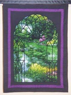 garden gate quilts | Size: 38 x 28 inches (Wall Hanging Size)
