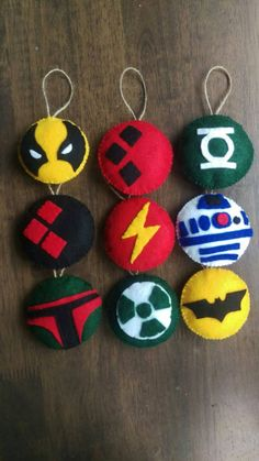 Christmas tree decorations flash green lantern Harley by mazius Felt Christmas Ornaments, Christmas Tree Decorations, Christmas On A Budget, Christmas Crafts, Xmas, Hero Crafts, Craft Gifts, Crochet Geek, Gothic