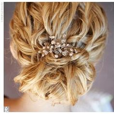 Looks beautiful with short or long hair and any hair color. One of my favorite updos for my friends' special occasions.
