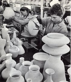 Pottery factory at the beginnig of the 20'th century in Tel Aviv