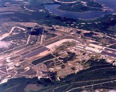 Goose Bay Air Force Base - Labrodor - SAC base Canada. We overnighted there in !!JANUARY!! 1990. Brought back memories of my time in Wisconsin and Minnesota.