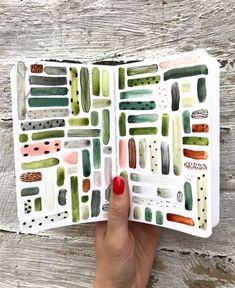 Sara Boccaccini Meadows sketchbook, watercolor, ink, composition, prints