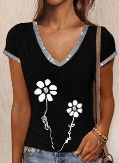 Cool Outfits, Summer Outfits, Polo, V Neck, Blouse, Clothes, Women, Fashion, Feminine Fashion