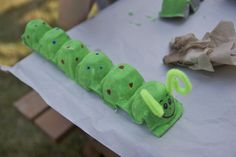 Have the kids paint caterpillars at the bug themed birthday party.