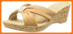 Bella Vita Made in Italy Women's Perfetto Wedge Sandal,Tan Leather,10 N US