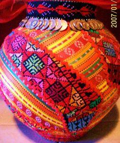 Palestinian Cross Stitch Pot Tapestry - Textile