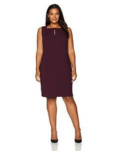 lovely calvin klein women's plus size starburst sheath dress