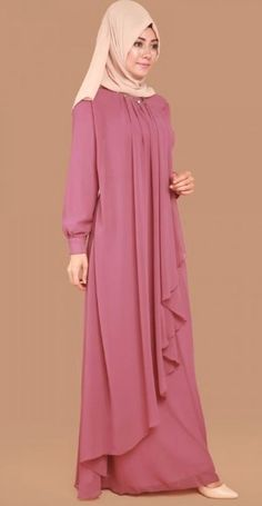 30 Hijabs for Muslim Women Niqab Fashion, Muslim Fashion, Modest Fashion, Girl Fashion, Fashion Dresses, Hijab Style Dress, Abaya Designs, Muslim Dress, Islamic Clothing