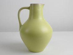Citroen geel vintage keramische vaas door de Waechtersbach