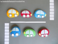 Painted rock cars