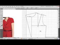 Model uygulamalı elbise kalıbı 18 /The model applied dress pattern 18