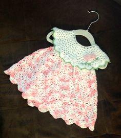 Crochet baby dress, sundress 6-9 months