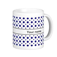 Mug with polka dot pattern