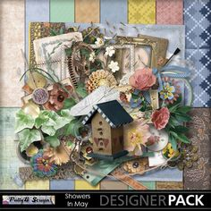 Digital Scrapbooking Kits | Showers In May-(PattyB) | Everyday, Family, Friends, Heritage, Seasons, Vintage | MyMemories