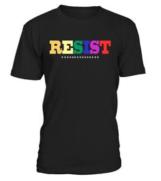 # Resist Flag National Pride March T-Shirt . CHECK OUT OTHER AWESOME DESIGNS HERE! Awesome Lesbian Gay Bisexual Transgender Transsexual Two-spirited Queer Questioning Intersex Asexual Ally gifts tees with LGBT Flag for homosexual and anybody who identify as LGBTQ social movements. Gay Pride Awareness tee shirt for everyone who support gay rights community. This T-Shirt can be worn to a national pride march on Washington DC, New York, equality rally, civil rights protest or gay pride parades…
