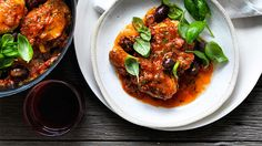 Step into the Provençal bistro, at home:Chicken with tomato and olive sauce