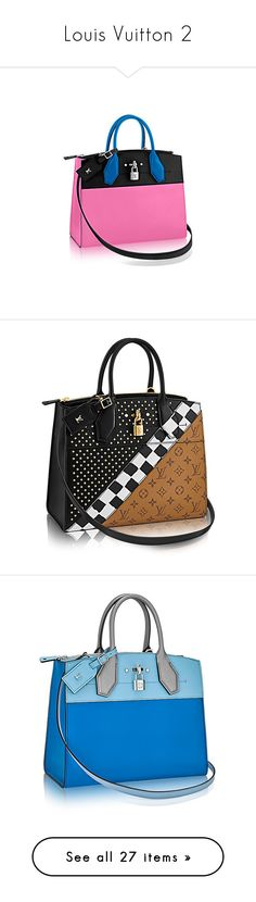 """""""Louis Vuitton 2"""" by missy-smallen ❤ liked on Polyvore featuring bags, handbags, monogrammed purses, rock bag, reversible purse, print bags, monogrammed bags, home, home decor and summer bags"""