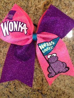 Cheer Bow- Wonka Nerds Unite on Etsy, $15.00