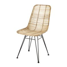 Chaise en rotin et métal Pitaya | Maisons du Monde