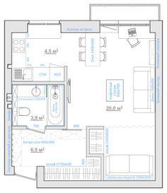 Разработать планировочное решение однокомнатной квартиры для молодой пары, ожидающей прибавление.