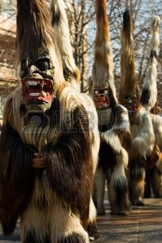 Kukeri - Bulgarian traditional masquerade monsters