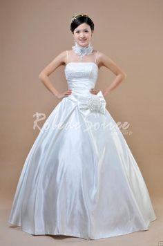 Robe de Mariée Avec Bretelles-robe de mariage pas chéres couleur robe Bretelles spaghetti