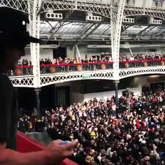 Norman Reedus shoots the #WSCLondon crowd below with Silly String 🎥 = Walker Stalker Convention #thewalkingdead #twd #thewalkingdeadseason7 #twdfamily #twdfinale #amc #walkingdead #rickgrimes #andrewlincoln #norman #normanreedus #daryl #dixon #michonne #chandler #chandlerriggs #carl #carlgrimes #carol #negan #lucille #maggie #glenn #love