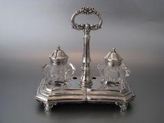 In topstaat verkerend Nederlands zilveren inktstel   Groot zilverwerk   Collectie   Antiek Zilver