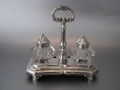 In topstaat verkerend Nederlands zilveren inktstel | Groot zilverwerk | Collectie | Antiek Zilver