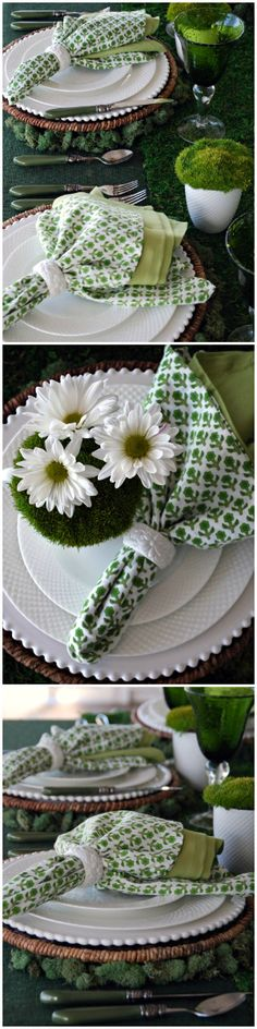 Tablescape ● Place Setting ● Spring Green