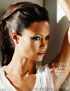 thandie newton photoshoot at DuckDuckGo Stunning Women, Most Beautiful Women, Beautiful People, Sally Hemings, Curly Hair Styles, Natural Hair Styles, Thandie Newton, Singer Fashion, Faye Dunaway