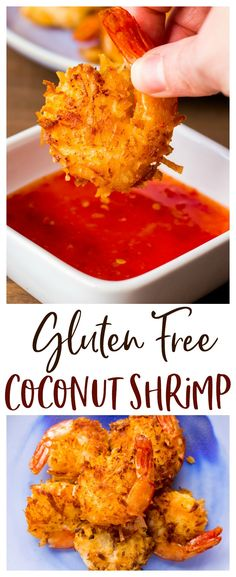 Gluten Free Coconut Shrimp - this easy recipe is made with coconut milk AND shre., Free Coconut Shrimp - this easy recipe is made with coconut milk AND shredded sweetened coconut for some serious coconut flavor in every bite! Gluten Free Appetizers, Gluten Free Recipes For Dinner, Gf Recipes, Appetizer Recipes, Cooking Recipes, Healthy Recipes, Gluten Free Dinners, Air Fryer Recipes Gluten Free, Dinner Recipes