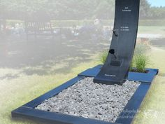 Moderne grafsteen foto 1