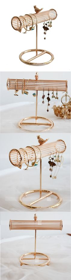 Cute Ornaments Jewelry Organizer Tray Necklace Holder Bracelet Earring Storage Display Stand Organizer Shelf Show Case Organizer Tray Jewelry Display Stands, Jewelry Stand, Jewelry Holder, Jewellery Display, Wooden Necklace, Silver Pendant Necklace, Pendant Jewelry, Jewelry Tree, Diy Jewelry