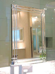 Art Deco Style Mirror - Modesty Art Deco Mirror (800 x 1000mm)