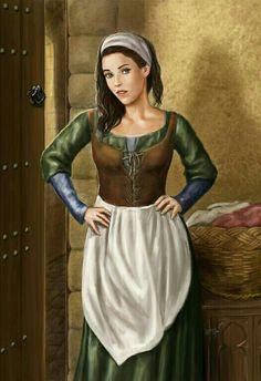 Female Human Commoner - Pathfinder PFRPG DND D&D d20 fantasy