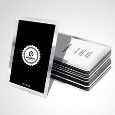 Plastic #BusinessCards with Silver Borders from @inkgility