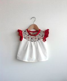 cotton blouse with Liberty print detail