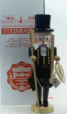 """STEINBACH GERMAN WOODEN NUTCRACKER """"CHIMNEY SWEEP"""" S1920 LIMITED SIGNED NEW"""