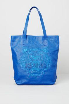 Kenzo Blue Tone on Tone Tiger Tote - Kenzo Icons Women - Kenzo E-shop