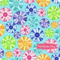Brighten Up! Aqua Circle Up Yardage <br/>SKU