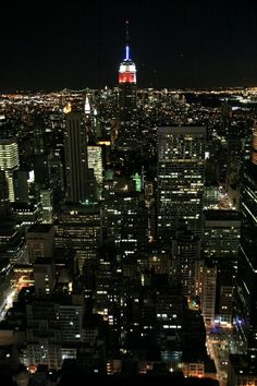 New York city - top view by night