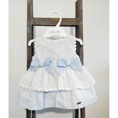 Vestido bebe Dolce Petit azul y blanco 12 meses