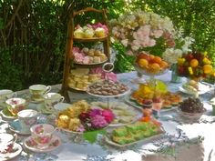 pretty tea party for our 25th wedding anniversary